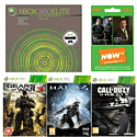 Preowned Xbox 360 120GB (Grade C) with 3 Month NOW TV Entertainment Pass, CoD: Ghosts, Halo 4 and Gears of War 3