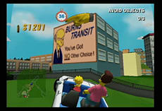 The Simpsons Road Rage screen shot 3