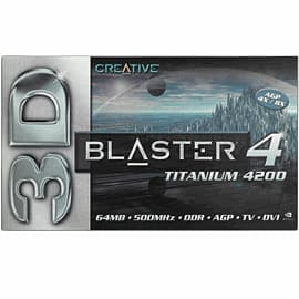 3D Blaster 4 Titanium 4200 - AGP - Creative Graphics Card Accessories 