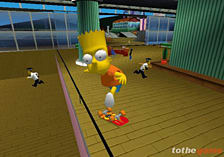 The Simpsons Skateboarding screen shot 2