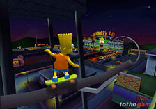 The Simpsons Skateboarding screen shot 4