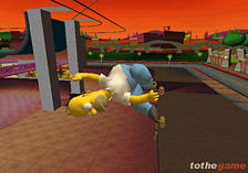 The Simpsons Skateboarding screen shot 5