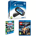 PlayStation Vita Slim with  PS Vita 8GB Sports and Racing MEGA Memory Card Pack and Lego The Hobbit Videogame