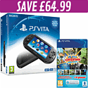 PlayStation Vita Slim with Adventure MEGA pack and 8GB Memory Card