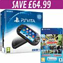 PlayStation Vita Slim with Adventure MEGA pack and 8GB Memory Card