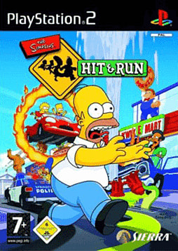 The Simpsons: Hit and Run PlayStation 2 Cover Art