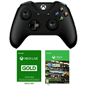 Xbox One Wireless Controller - Black with Xbox Live 3 Month Gold Membership
