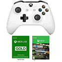 Xbox One Wireless Controller - White with Xbox Live 3 Month Gold Membership
