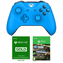 Xbox One Wireless Controller - Blue with Xbox Live 3 Month Gold Membership