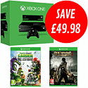 Xbox One with Dead Rising 3 and Plants vs Zombies: Garden Warfare