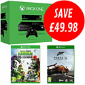 Xbox One with Forza 5 and Plants vs Zombies: Garden Warfare
