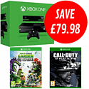 Xbox One with Call of Duty: Ghosts and Plants vs Zombies: Garden Warfare