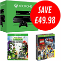 Xbox One with The LEGO Movie Videogame and Plants vs Zombies: Garden Warfare