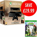 Xbox One with Titanfall and Plants vs Zombies: Garden Warfare