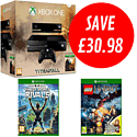 Xbox One with Titanfall, Kinect Sports Rivals and LEGO The Hobbit Videogame with Bilbo Baggins Minifig
