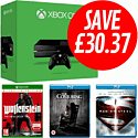 Xbox One with Wolfenstein: Occupied Edition, Man of Steel and The Conjuring Blu-Rays