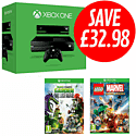Xbox One with Kinect, LEGO Marvel Super Heroes and Plants vs Zombies: Garden Warfare