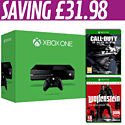Xbox One with Call of Duty: Ghosts and Wolfenstein: The New Order Occupied Edition - Only At GAME