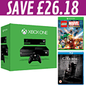Xbox One with Kinect, LEGO Marvel Super Heroes Super Pack Edition and The Conjuring Blu-Rays