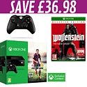 Xbox One Console with FIFA 15 Download, Xbox One Controller and Wolfenstein: The New Order Occupied Edition