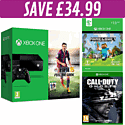 Xbox One Console with FIFA 15 download, Minecraft download and Call of Duty: Ghosts