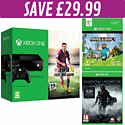 Xbox One Console with FIFA 15 download, Minecraft download and Shadow of Mordor