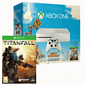 White Xbox One Console with Sunset Overdrive and Titanfall