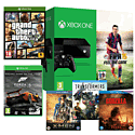 Xbox One Console With FIFA 15 Download, GTA V, Forza 5 GOTY Download and 3 Blu-Rays