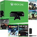 Xbox One Console With Forza 5 GOTY Download, LEGO Batman 3, The Crew, Play & Charge Kit & 2 Bluray Movies