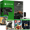 Xbox One With Forza 5 Download, LEGO Marvel, Call of Duty Advanced Warfare, Master Chief Collection, Play & Charge Kit & 1 Movie