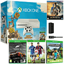 White Xbox One Console With Sunset Overdrive, Forza 5 GOTY Download, FIFA 15, Minecraft, Play & Charge Kit & X-Men Bluray