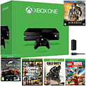 Xbox One Console With Forza 5 GOTY Download, LEGO Marvel, Call of Duty Advanced Warfare, GTA V, Play & Charge Kit & X-Men Bluray