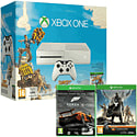 White Xbox One Console with Sunset Overdrive, Forza 5 Game Of The Year Download & Destiny
