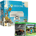 White Xbox One Console with Sunset Overdrive, Forza 5 Game Of The Year Download & Minecraft