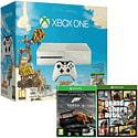 White Xbox One Console with Sunset Overdrive, Forza 5 Game Of The Year Download & GTA V