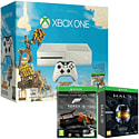 White Xbox One Console with Sunset Overdrive, Forza 5 Game Of The Year Download & Halo Master Chief Collection