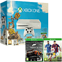 White Xbox One Console with Sunset Overdrive, Forza 5 Game Of The Year Download & FIFA 15
