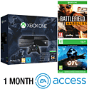 Xbox One Console With Halo MC Collection, Ori & The Blind Forest Download, Battlefield Hardline & 1 Month EA Access