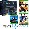 Xbox One Console With Halo MC Collection, Ori & The Blind Forest Download, Battlefield Hardline, FIFA 15 & 1 Month EA Access
