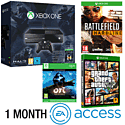 Xbox One Console With Halo MC Collection, Ori & The Blind Forest Download, Battlefield Hardline, GTA V & 1 Month EA Access