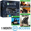 Xbox One With Halo MC Collection, Ori & The Blind Forest, Battlefield Hardline, COD Advanced Warfare & 1 Month EA Access