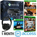 Xbox One With Halo MC Collection, Ori & The Blind Forest, Battlefield Hardline, GTA V, Stereo Headset & 1 Month EA Access