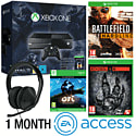 Xbox One With Halo MC Collection, Ori & The Blind Forest, Battlefield Hardline, Evolve,  Stereo Headset & 1 Month EA Access