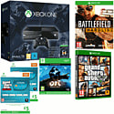 Xbox One Console With Halo MC Collection, Ori & The Blind Forest Download, Battlefield Hardline & GTA V With Bonus Shark Cards
