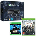 Xbox One Console With Halo MC Collection, Ori & The Blind Forest & Assassin's Creed Unity