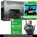 Xbox One Console With The Witcher 3 Wild Hunt, Ori & The Blind Forest & 12 Months Xbox Live Gold