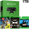 Xbox One Console With 1TB Hard Drive, Ori & The Blind Forest, LEGO Jurassic World & Batman Arkham Knight
