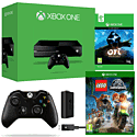 Xbox One With Ori & The Blind Forest, LEGO Jurassic World, Wireless Controller & Play & Charge Kit