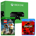 Xbox One Console With LEGO Jurassic World & Jurassic Park Bluray