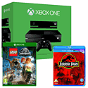 Xbox One Console With Kinect, LEGO Jurassic World & Jurassic Park Bluray